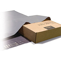 Polythene Grey Mailing Bags 300x350mm With 50mm Flap 50Mu,