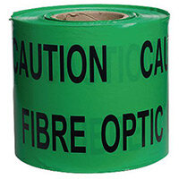 Non-Adhesive Printed Message Tape To Alert Contractors Of Buried Fibre Optic Cable