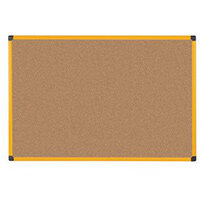 Yellow Maya Frame Cork Noticeboard 600X450