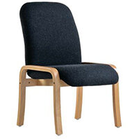 Yealm Modular Wooden Frame Reception Chair In Charcaol No Arms