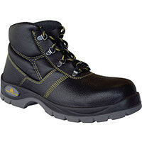 Leather Safety Boots Size 3 Dual Density Pu Outsole With Midsole. Breathable Liner S1P Src