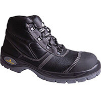Leather Safety Boots Size 3 Dual Density Pu Outsole With Midsole Scuff Cap And Breathable