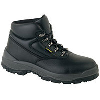 Smooth Leather S3 Uniform Safety Boot Size 3 With Speed Lacing. Dual Density Pu Outsole Breathable Liner