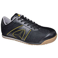 D Spirit Lightweight Nubuck Safety Trainer Black Uk Size 5 Eu Size 38