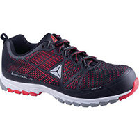 Delta Sport Premium Comfort Sports Style Safety Trainer Black/Red Uk Size 6 Eu Si