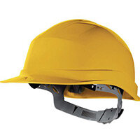 Essential Safety Helmet Yellow Polethylene With Sweat Band And Manual Adjustment