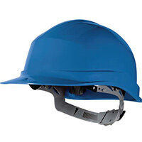Essential Safety Helmet Blue Polethylene With Sweat Band And Manual Adjustment