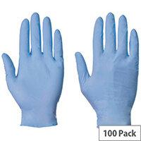 Blue Nitrile Powder Free Gloves Small
