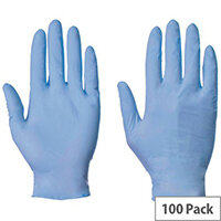 Blue Nitrile Powder Free Gloves Large