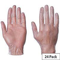Light Powdered Vinyl Examination Gloves Pack Of 6 (4 Gloves Per Pack) 2602026