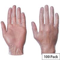 Powder Free Clear Vinyl Gloves Large