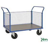 Platform Truck LxW 1166x700mm With Two Mesh Ends And 1 Mesh Side