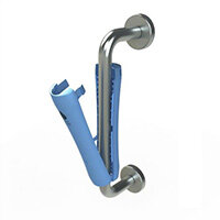 Purehold Hygienic Antibacterial Pull Door Handle Cover Blue