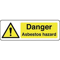 Sign Danger Asbestos Hazard 300x100 Polycarb