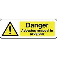 Sign Danger Asbestos 400X600 Polycarbonate Danger Asbestos Removal In Progress
