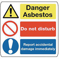 Sign Danger Asbestos 300X300 Polycarbonate Danger Asbestos Do Not Disturb Report Accidental Damage Immediately