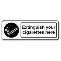 Sign Extinguish Your Cigarettes Polycarbonate 300x100