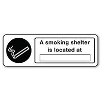 Sign A Smoking Shelter Is Located Polycarbonate 300x100