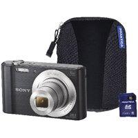 Sony DSC-W810 Digital Camera Bundle with 16GB SD Card and Case Black SON2601