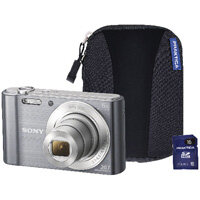 Sony DSC-W810 Digital Camera Bundle with 16GB SD Card and Case Silver SON2608