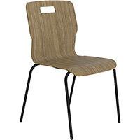 Titan Nurture 4 Leg Black Frame Classroom Chair 465mm Seat Height Oak
