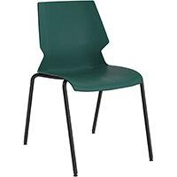 Titan Uni 4 Leg Classroom Chair 475mm Seat Height Grey Frame & Green Seat