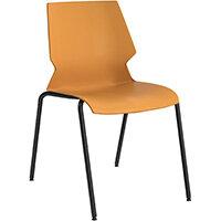 Titan Uni 4 Leg Classroom Chair 475mm Seat Height Grey Frame & Yellow Seat