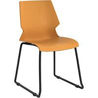 Titan Uni Skid Base Classroom Chair 475mm Seat Height Grey Frame & Yellow Seat