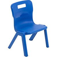 Titan One Piece Classroom Chair Size 1 260mm Seat Height (Ages: 3-4 Years) Blue T1-B - 20 Year Guarantee