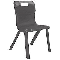 Titan One Piece School Chair Size 1 260mm Charcoal Pack of 10