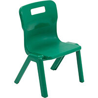 Titan One Piece Classroom Chair Size 1 260mm Seat Height (Ages: 3-4 Years) Green T1-GN - 20 Year Guarantee