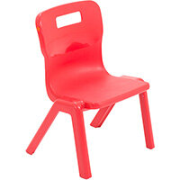 Titan One Piece Classroom Chair Size 1 260mm Seat Height (Ages: 3-4 Years) Red T1-R - 20 Year Guarantee