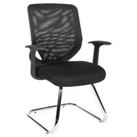 Nova Mesh Stylish Mesh Back Visitors Chair In Black