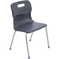 Titan 4 Leg Classroom Chair Size 2 310mm Seat Height (Ages: 4-6 Years) Charcoal T12-C - 5 Year Guarantee