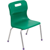 Titan 4 Leg Classroom Chair Size 2 310mm Seat Height (Ages: 4-6 Years) Green T12-GN2 - 5 Year Guarantee