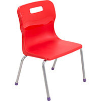Titan 4 Leg Classroom Chair Size 2 310mm Seat Height (Ages: 4-6 Years) Red T12-R2 - 5 Year Guarantee