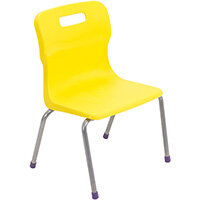 Titan 4 Leg Classroom Chair Size 2 310mm Seat Height (Ages: 4-6 Years) Yellow T12-Y2 - 5 Year Guarantee