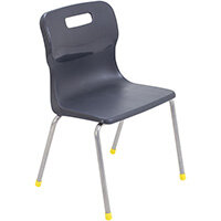 Titan 4 Leg Classroom Chair Size 3 350mm Seat Height (Ages: 6-8 Years) Charcoal T13-C - 5 Year Guarantee