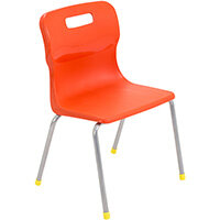 Titan 4 Leg Classroom Chair Size 3 350mm Seat Height (Ages: 6-8 Years) Orange T13-O - 5 Year Guarantee