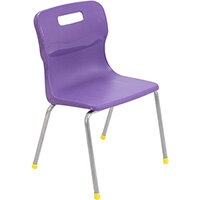 Titan 4 Leg Classroom Chair Size 3 350mm Seat Height (Ages: 6-8 Years) Purple T13-P - 5 Year Guarantee