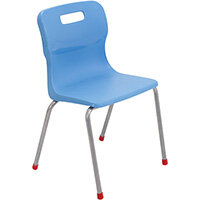 Titan 4 Leg Classroom Chair Size 4 380mm Seat Height (Ages: 8-11 Years) Sky Blue T14-CB - 5 Year Guarantee