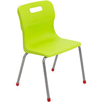 Titan 4 Leg Classroom Chair Size 4 380mm Seat Height (Ages: 8-11 Years) Lime T14-L - 5 Year Guarantee