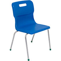 Titan 4 Leg Classroom Chair Size 5 430mm Seat Height (Ages: 11-14 Years) Blue T15-B - 5 Year Guarantee