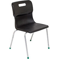 Titan 4 Leg Classroom Chair Size 5 430mm Seat Height (Ages: 11-14 Years) Black T15-BK - 5 Year Guarantee