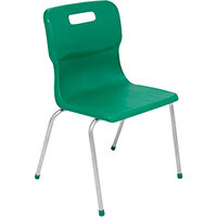 Titan 4 Leg Classroom Chair Size 5 430mm Seat Height (Ages: 11-14 Years) Green T15-GN - 5 Year Guarantee