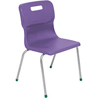 Titan 4 Leg Classroom Chair Size 5 430mm Seat Height (Ages: 11-14 Years) Purple T15-P - 5 Year Guarantee