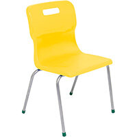 Titan 4 Leg Classroom Chair Size 5 430mm Seat Height (Ages: 11-14 Years) Yellow T15-Y - 5 Year Guarantee