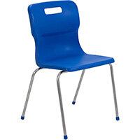 Titan 4 Leg Classroom Chair Size 6 460mm Seat Height (Ages: 14+ Years) Blue T16-B - 5 Year Guarantee