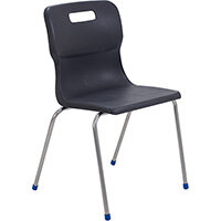 Titan 4 Leg Classroom Chair Size 6 460mm Seat Height (Ages: 14+ Years) Charcoal T16-C - 5 Year Guarantee