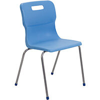 Titan 4 Leg Classroom Chair Size 6 460mm Seat Height (Ages: 14+ Years) Sky Blue T16-CB - 5 Year Guarantee